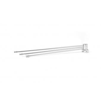 Полка-веер для полотенцесушителя с квадратным коллектором