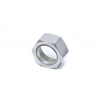Гайка ВР с кольцом для п/с полированная (нерж 34)